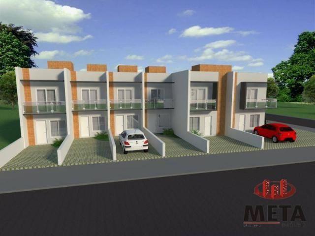 Sobrado com 2 dormitórios à venda, 68 m² por R$ 194.000,00 - Espinheiros - Joinville/SC - Foto 2
