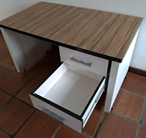 Mesa de Escritório MDF madeirado - Foto 4