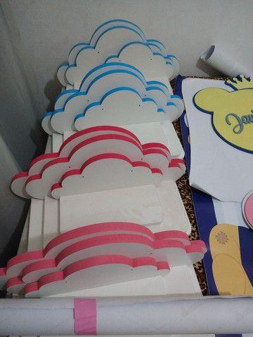 Kit Prateleiras infantil tema nuvem  - Foto 4
