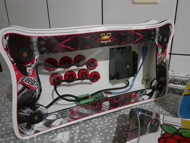 Raspberry pi 3, arcade stick , fliperama ,vídeo game retro 9 mil jogos, bartop - Foto 5