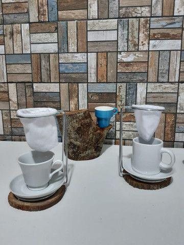 Mancebo de cafezinho individual - Foto 2