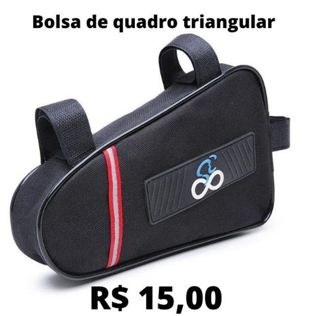 Bolsa Selim Bag C/ Faixa Refletiva Dois Estagio Sped/mtb Bike - Foto 4