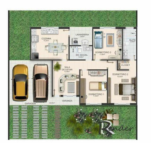 Planta/Desenho de Arquitetura Casa