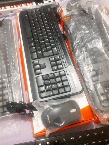 Kit Teclado e Mouse Microsoft USB Produto Novo Modelo 600 - Foto 4