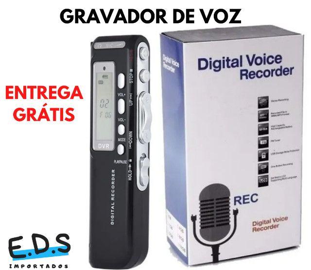 Gravador de Voz Espião e Digital Com Fone de Ouvido e 8Gb de Memória - Foto 5