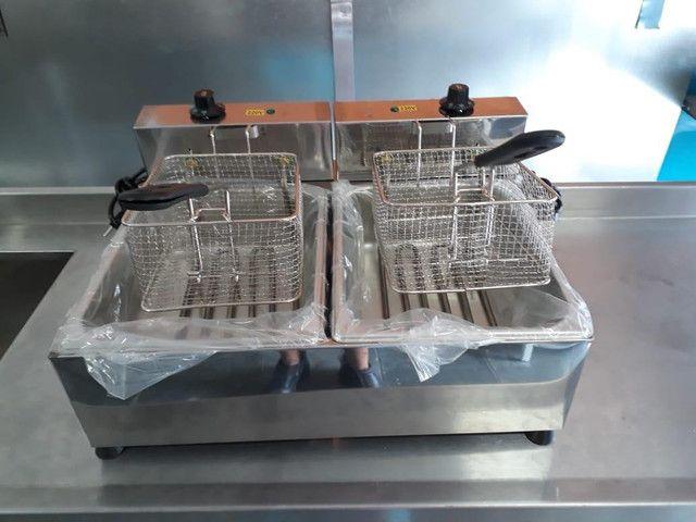 Fritadeira elétrica 2 cubas ( 10 litros ) - Foto 2