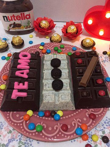 Barra de chocolate recheada - Foto 4