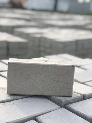 Piso paver intertravado, piso concreto, tijolinho, bloco de concreto - Foto 2