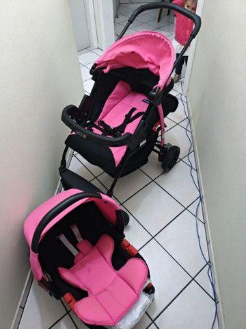 Vendo Carrinho + Bebê Conforto com base para carro Burigotto - Foto 4