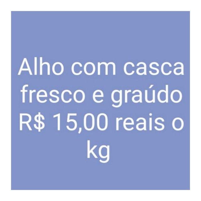Alho graúdo a partir de 15 reais o kilo - Foto 2