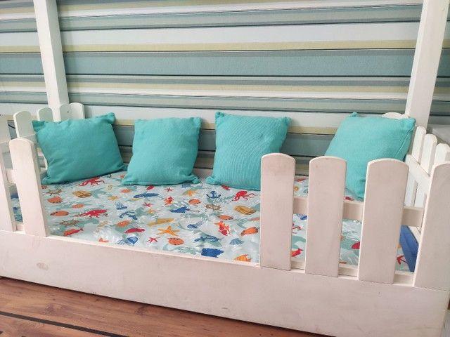 Cama Montessoriana 70x150 em madeira - Foto 4