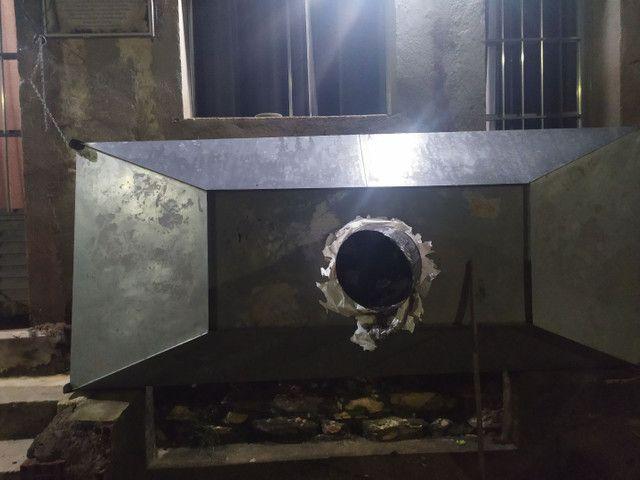 Coifa para lanchonete e restaurante para um fogão industrial de 6 bocas - Foto 2