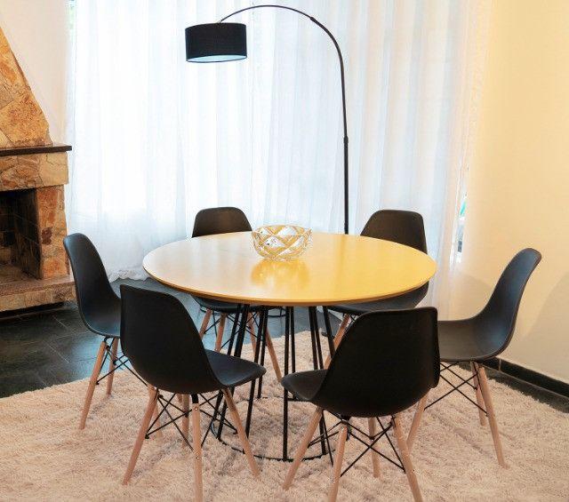 Conjunto de Mesa 1,10 de diâmetro + 4 cadeiras - Foto 3