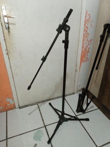 2 pedestais para microfone, tripé para microfone - Foto 4