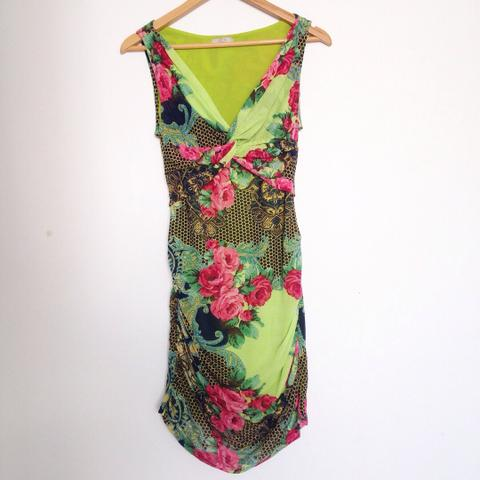Vestido estampado florido, Tam. P/M
