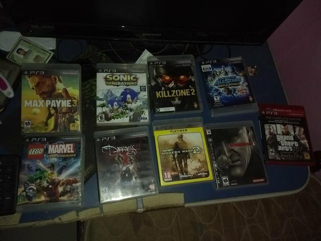 PS3 R$600 + oito jogos