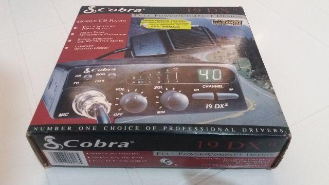 Radio PX Cobra 19 dx II Compacto com visor lcd