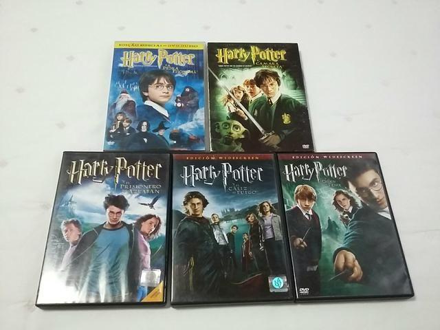 DVDs ds filmes Harry Potter