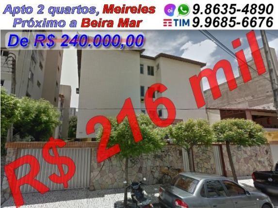 Abaixou, Apto 2 quartos, Excelente localização no Meireles por 240 mil