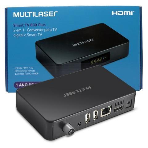 Conversor Digital e Smart Tv Box Android 2x1 PC001 Multilaser 1GB Ram 8GB Usb Hdmi Full Hd - Foto 3
