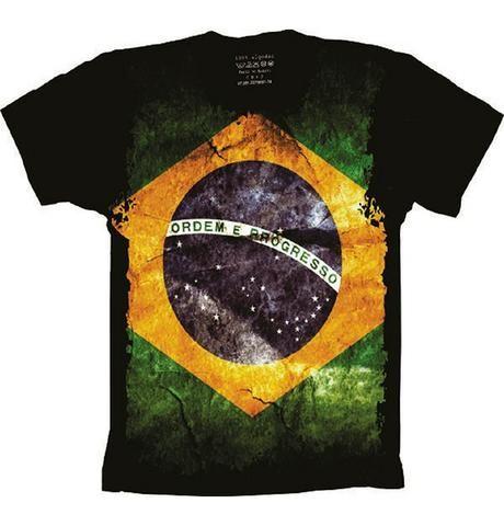 c56d55e0a Camiseta Brasil Bandeira Nacional Patriota