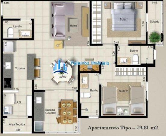 Endro Residencial - Apartamento em Lançamentos no bairro Nova Aliança - Ribeirão. - Foto 2