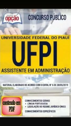Apostila UFPI 2019 PDF 15 reais