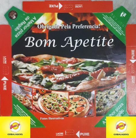 50 Caixas Embalagem Pizza Broto 25cmOitavada Fotográfica Reforçada Padrão ou Personalizada - Foto 3