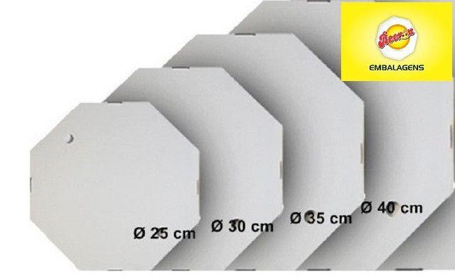 50 Caixas Embalagem Pizza 35cm Oitavada Branca Tbm personalizamos, temos todos os tamanhos - Foto 2