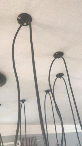 Lustre com 12 braços e 12 lâmpadas filamento - Foto 2