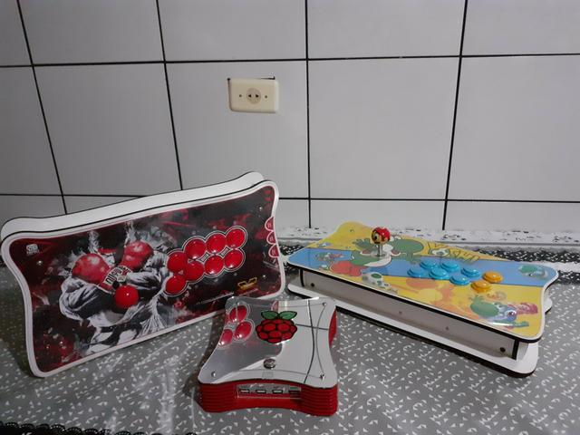 Raspberry pi 3, arcade stick , fliperama ,vídeo game retro 9 mil jogos, bartop