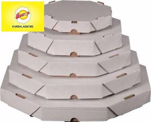 50 Caixas Embalagem Pizza 35cm Oitavada Branca Tbm personalizamos, temos todos os tamanhos