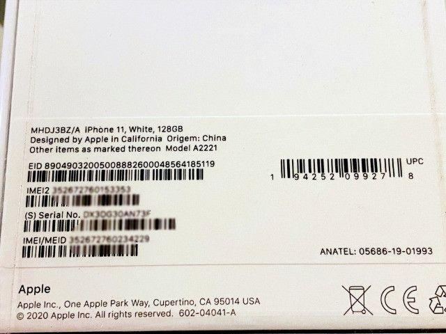 IPhone 11 Branco 128gb, NF + Garantia 1 ano, A2221, Anatel, Lacrado, Zero, Novo - Foto 3