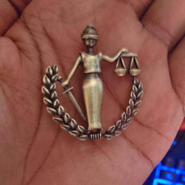 Broche da Justiça Advogada OAB - Foto 6
