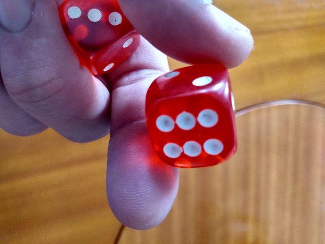 Dados profissionais para poker e outros jogos aceito cartão e trocas - Foto 4