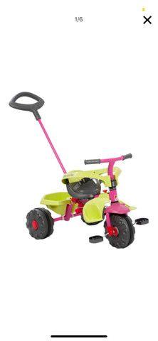 Triciclo Smart Plus Rosa Bandeirantes