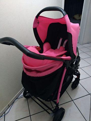 Vendo Carrinho + Bebê Conforto com base para carro Burigotto - Foto 2