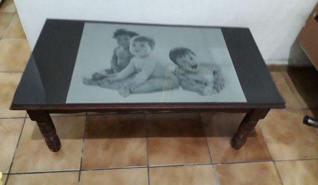 Mesa de centro, madeira maciça  imbuia.