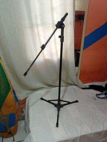 2 pedestais para microfone, tripé para microfone - Foto 3