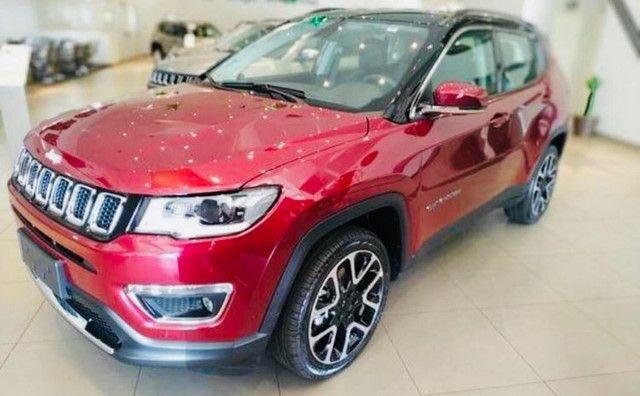 Jeep Compass Limited Flex 2021 Okm A Pronta Entrega Melhor Preço da Baixada !!! - Foto 3