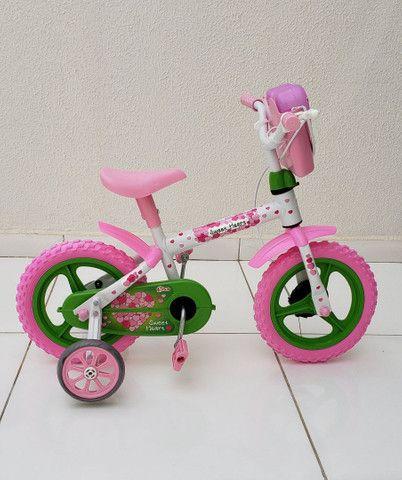Bicicleta aro 12 Nova prá menina a partir de 2 anos. - Foto 3