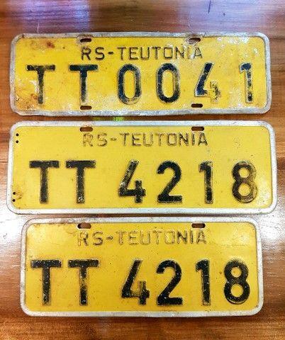 Placas antigas de carro