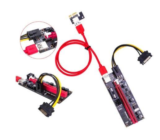 Extensor para placa de adaptador sata 15pin usb 3.0, pci-e riser 009s express 1x 4x 8x 16x - Foto 2