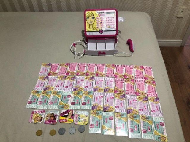 Vendo maquina registradora Barbie - pouco usada