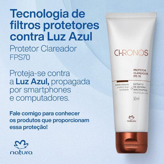 Natura Chronos Protetor Facial Clareador Fps70 Claro Medio - Foto 2
