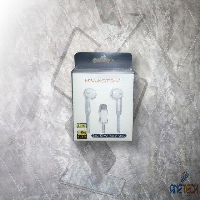 Fone de ouvido para celulares Tipo-C hmaston ej-27