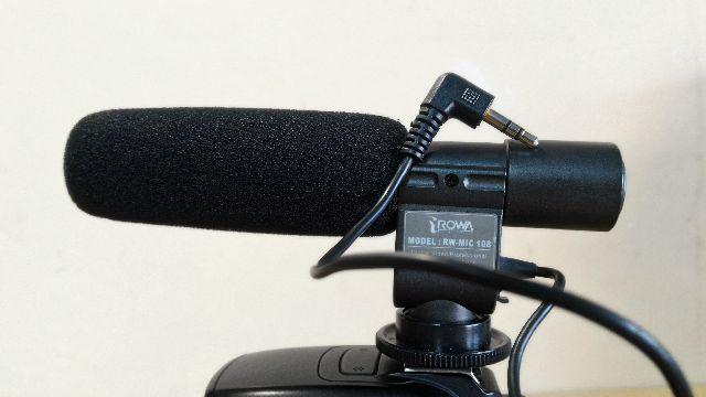 Microfone para Canon ou Nikon Rowa-MIC108