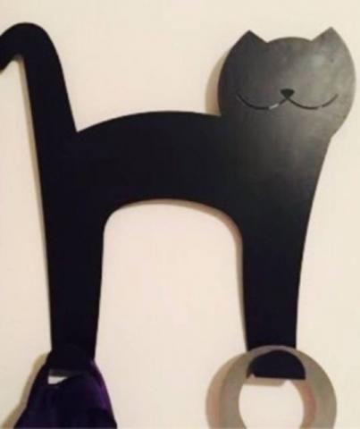 Cabide decorativo de Gato