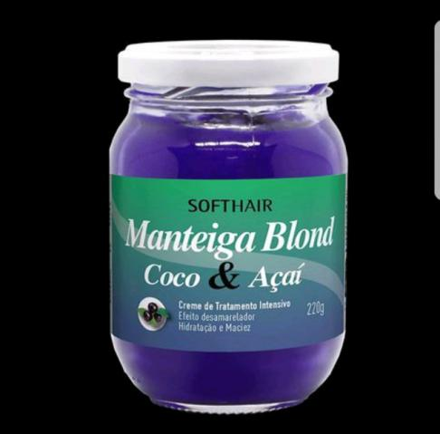 Manteiga blond - coco e açaí - softhair 220g
