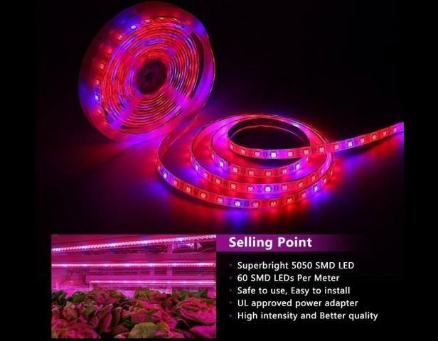 COD-CP325 1 Metro Fita Led Full Spectrum Indoor Grow 7red 1blue Cultivo Aquario - Foto 2